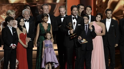 Cast and producers of Modern Family at last weekend's Emmy Awards