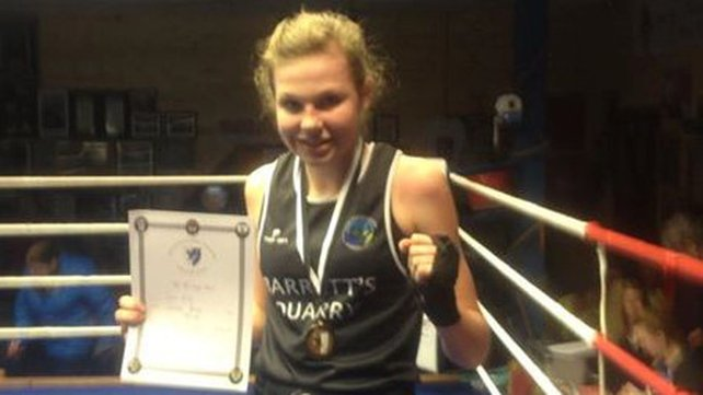 Ciara Ginty triumphed in this morning's 60kg lightweight final (Pic: Geesala Boxing Club)