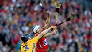 Clare's David McInerney and Luke O'Farrell of Cork