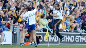 Davy Fitzgerald reacts to Clare's second goal