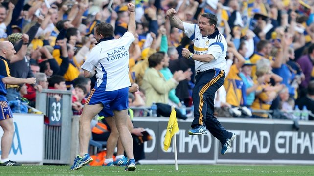 Davy Fitzgerald reacts to a Clare goal