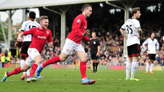 Jordan Mutch celebrates his late winner against Fulham