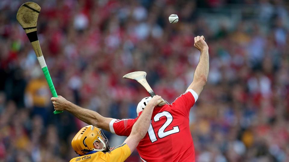 Clare's Cian Dillon and Patrick Cronin of Cork