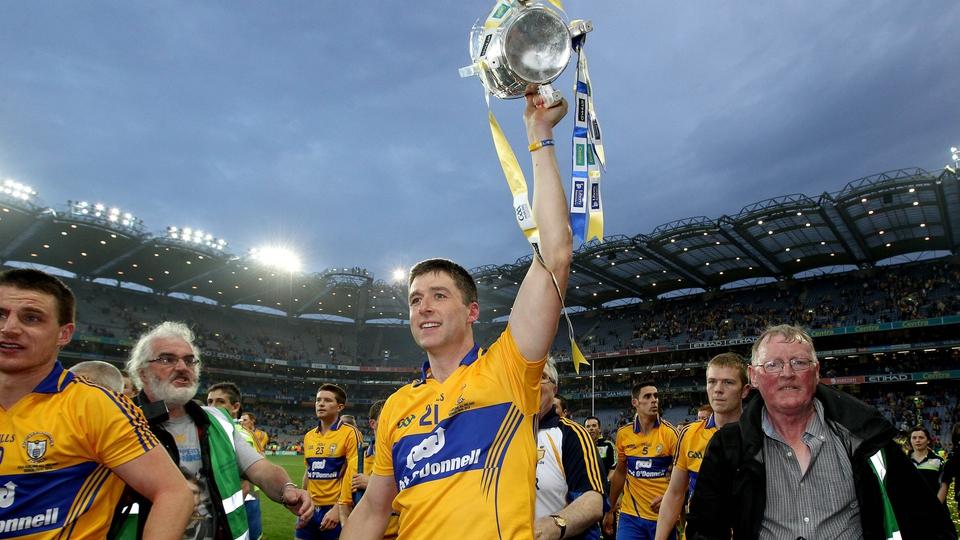 Fergal Lynch celebrates with the Liam McCarthy