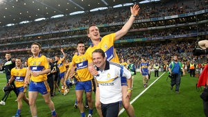 Davy Fitzgerald celebrates with John Conlon