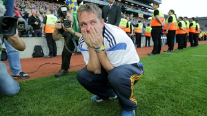 Clare manager Davy Fitzgerald reacts at the final whistle