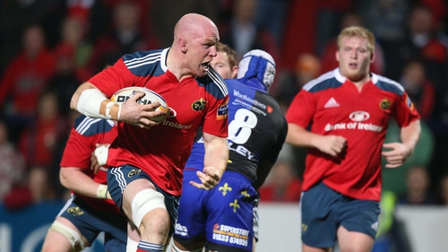 Paul O'Connell played his first competitive action since fracturing a bone in his right arm on the Lions tour