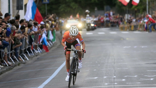 Olympic champion Marianne Vos of the Netherlands successfully defended her women's road race crown