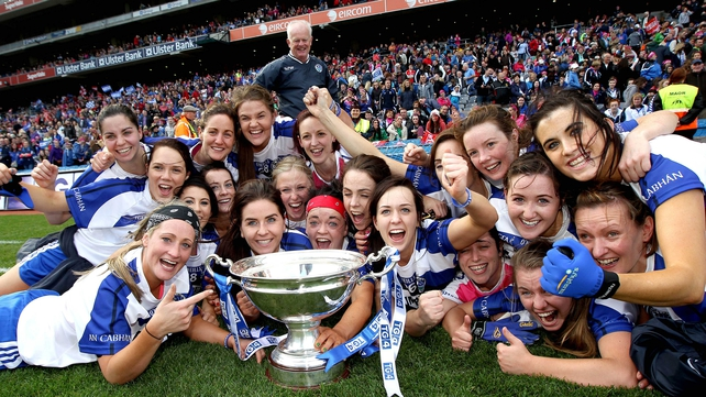 Cavan celebrate their first All-Ireland title success since 1977
