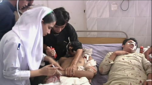 Many of the victims had been taken to Lady Reading Hospital in Peshawar