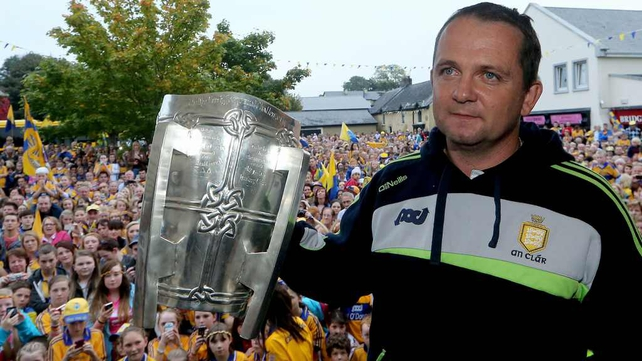 Davy Fitzgerald in his home town Sixmilebridge this evening