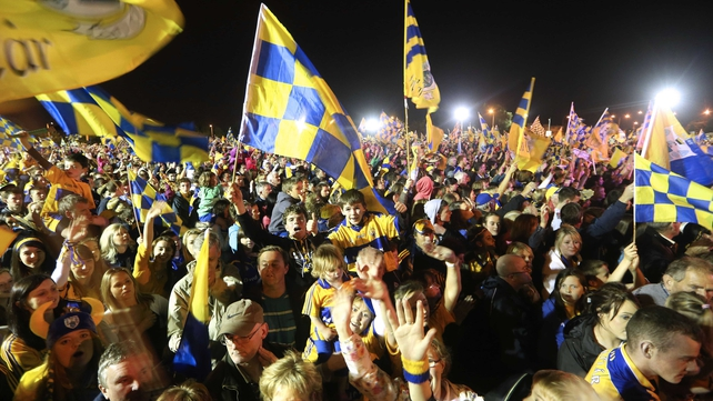 A huge crowd thronged Tim Smythe Park in Ennis to welcome home the victorious Clare team