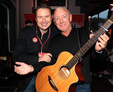 Risin' Time's Shay Byrne and singer Don Baker