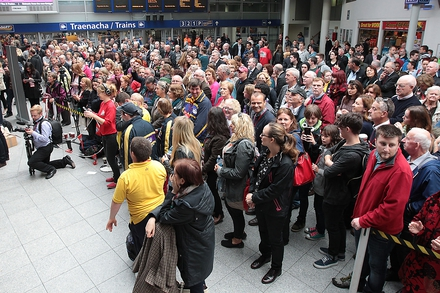 The crowd at Connolly station