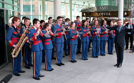 The Artane Band at Connolly station