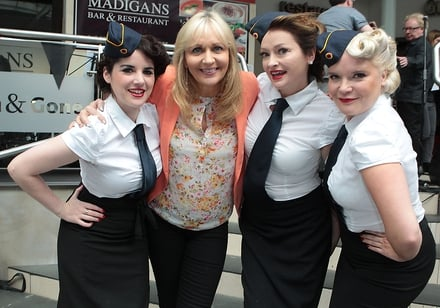 Miriam O'Callaghan and the Bugle Babes
