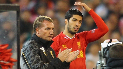 Brendan Rodgers believes that working with Luis Suarez has made him a better manager