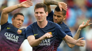 Lionel Messi injured his thigh during Barca's win over Almeria