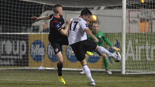Richie Towell scores the first of three goals