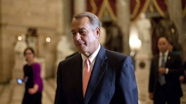 An anticipated revolt by moderate Republicans failed to materialise after House Speaker John Boehner made personal appeals