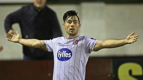 Richie Towell bagged the only goal of the game at Lissywoollen