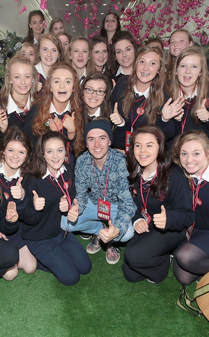Ryan with Students from Presentation Secondary Girls School, Clonmel