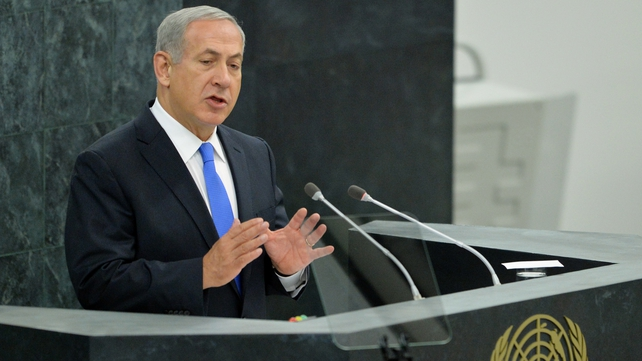 Benjamin Netanyahu was speaking at the UN General Assembly