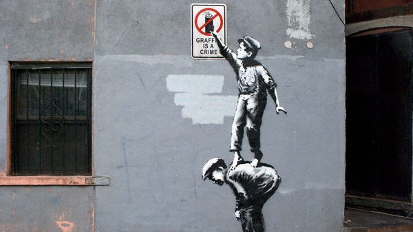 'The street is in play' is the first New York work from Banksy (Pic: Banksyny.com)