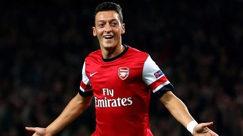 Mesut Ozil was a star performer for the Gunners last night