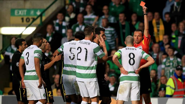 Scott Brown will appeal the three game ban for his red card against Barcelona