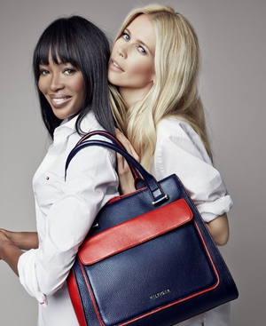 Naomi Campbell and Claudia Schiffer for Tommy Hilfiger