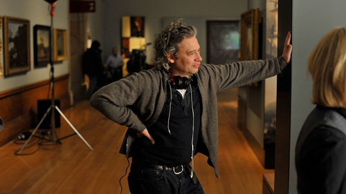 Dexter Fletcher on the set of Sunshine on Leith