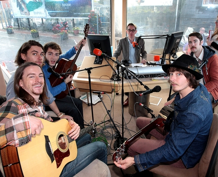 The Hot Sprockets in studio