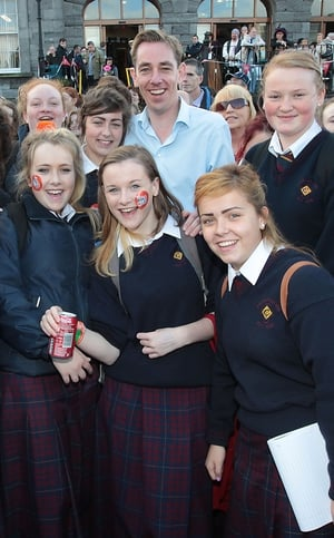 Ryan Tubridy was greeted by big crowds in Limerick
