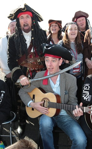Ryan signs up for pirate duty in Galway