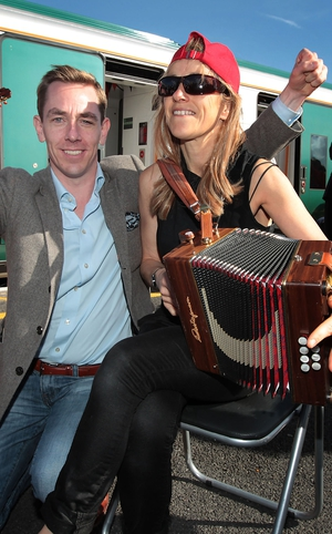 Ryan and Sharon Shannon in sunny Galway