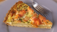 Potato, Smoked Salmon and Dill Tart - A light and refreshing tart from Rachel Allen's Everyday Kitchen
