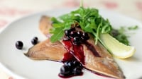 Smoked Slade Mackerel Fillets with Blackcurrant - Recreate Kevin Dundon's delicious mackerel dish at home by following his step by step instructions