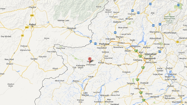 The attack took place in the Hangu district, near the border with Afghanistan (Pic: Google Maps)