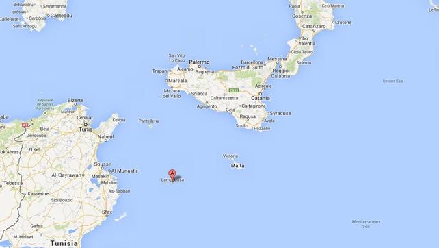 The boat sank off the coast of Lampedusa (Pic: Google Maps)
