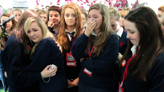 The students of Presentation Secondary School, Clonmel