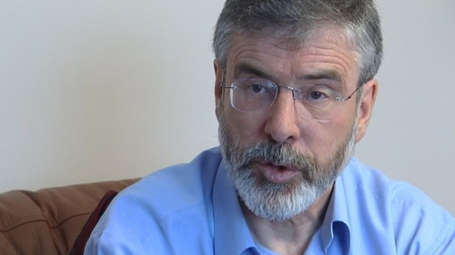 A decision was made two years ago not to prosecute Gerry Adams