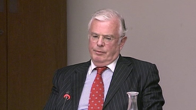 Peter Mathews was involved in a bitter row in the Dáil chamber
