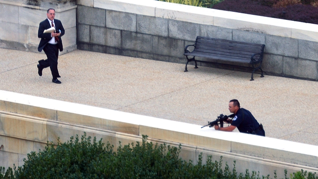 Shots were fired near the Hart Senate Office, close to the US Supreme Court