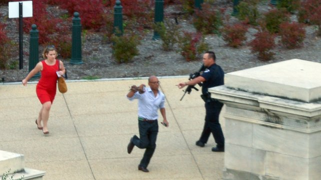 The US Capitol was put into lockdown after gunshots were heard