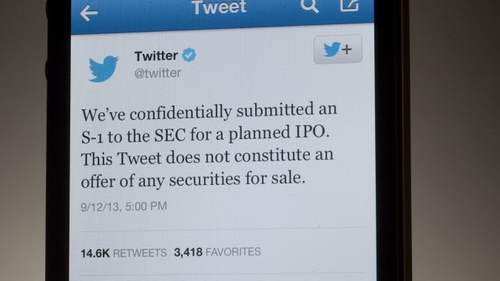 Twitter heading towards largest Silicon Valley flotation since Facebook's IPO in 2012