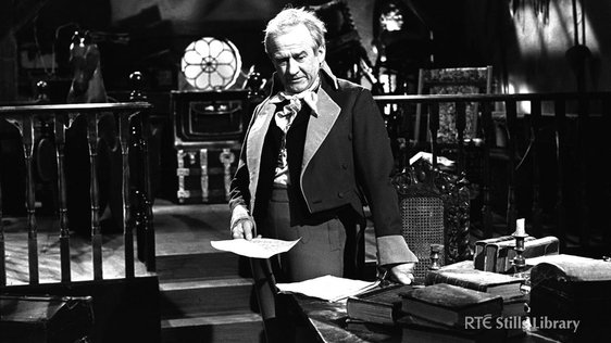 Cyril Cusack as Sir Jonah Barrington in the RTÉ Television series 'Facets Irish' (1972)