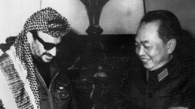 Vo Nguyen Giap pictured with Yasser Arafat