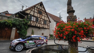Belgium driver Thierry Neuville in his Ford Fiesta RS WRC