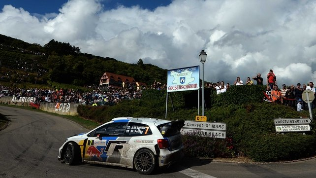 Jari-Matti Latvala in Gueberschwihr, eastern France